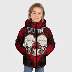 Куртка зимняя для мальчика BFMV: Duo Skulls цвета 3D-черный — фото 2