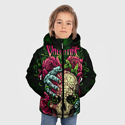 Куртка зимняя для мальчика BFMV: Roses Skull цвета 3D-черный — фото 2