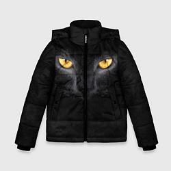 Куртка зимняя для мальчика Черная кошка цвета 3D-черный — фото 1