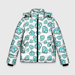 Куртка зимняя для мальчика Бриллианты цвета 3D-черный — фото 1