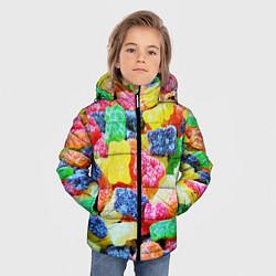 Куртка зимняя для мальчика Мармеладные мишки цвета 3D-черный — фото 2