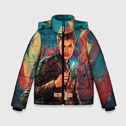 Детская зимняя куртка для мальчика с принтом Доктор кто, цвет: 3D-черный, артикул: 10065373406063 — фото 1