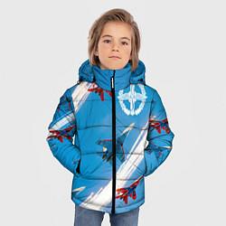 Куртка зимняя для мальчика Самолеты ВВС цвета 3D-черный — фото 2