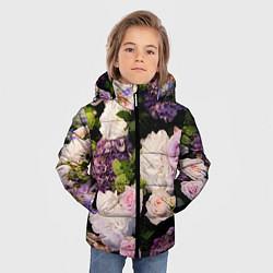 Детская зимняя куртка для мальчика с принтом Весенние цветы, цвет: 3D-черный, артикул: 10067033306063 — фото 2