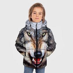 Куртка зимняя для мальчика Взгляд волка цвета 3D-черный — фото 2