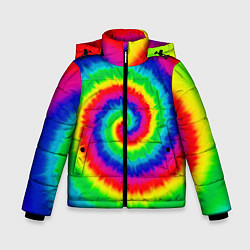 Куртка зимняя для мальчика Tie dye - фото 1