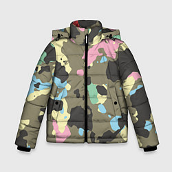 Куртка зимняя для мальчика Камуфляж: микс цветов цвета 3D-черный — фото 1