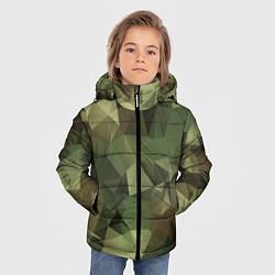 Куртка зимняя для мальчика Полигональный камуфляж цвета 3D-черный — фото 2