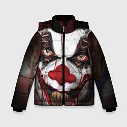 Детская зимняя куртка для мальчика с принтом Зомби клоун, цвет: 3D-черный, артикул: 10072074206063 — фото 1