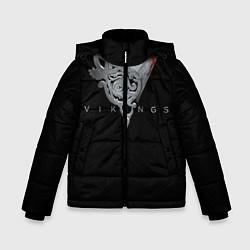 Детская зимняя куртка для мальчика с принтом Vikings Emblem, цвет: 3D-черный, артикул: 10073057906063 — фото 1