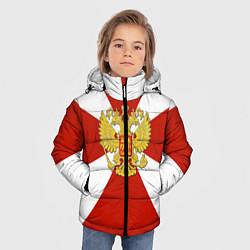 Куртка зимняя для мальчика Флаг ВВ цвета 3D-черный — фото 2