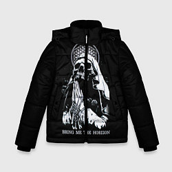 Детская зимняя куртка для мальчика с принтом BMTH: Skull Pray, цвет: 3D-черный, артикул: 10073642906063 — фото 1
