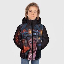 Куртка зимняя для мальчика Emmett Lathrop Brown цвета 3D-черный — фото 2