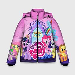 Детская зимняя куртка для мальчика с принтом My Little Pony, цвет: 3D-черный, артикул: 10075444706063 — фото 1