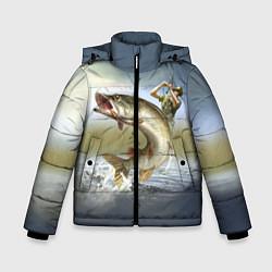 Куртка зимняя для мальчика Дерзская щука цвета 3D-черный — фото 1