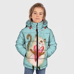 Куртка зимняя для мальчика Котик цвета 3D-черный — фото 2