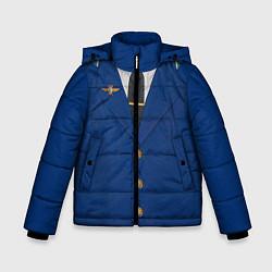 Куртка зимняя для мальчика Китель цвета 3D-черный — фото 1