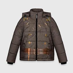 Куртка зимняя для мальчика Шинель цвета 3D-черный — фото 1