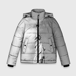Куртка зимняя для мальчика Статуя Свободы цвета 3D-черный — фото 1