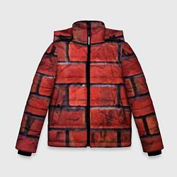 Детская зимняя куртка для мальчика с принтом Кирпич, цвет: 3D-черный, артикул: 10081034906063 — фото 1