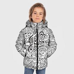 Куртка зимняя для мальчика Love графика цвета 3D-черный — фото 2