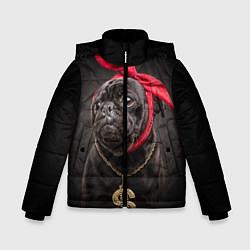 Куртка зимняя для мальчика Money Mops цвета 3D-черный — фото 1