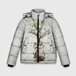 Куртка зимняя для мальчика Three Days Grace: Tree цвета 3D-черный — фото 1
