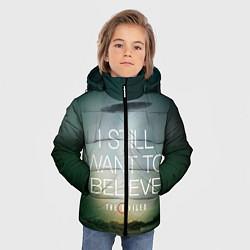 Куртка зимняя для мальчика I still want to believe цвета 3D-черный — фото 2