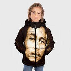 Куртка зимняя для мальчика Взгляд Боба Марли цвета 3D-черный — фото 2