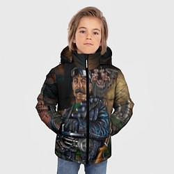Куртка зимняя для мальчика Сталин военный цвета 3D-черный — фото 2
