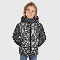 Куртка зимняя для мальчика Гламурный узор цвета 3D-черный — фото 2