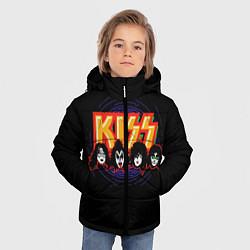 Куртка зимняя для мальчика KISS: Death Faces цвета 3D-черный — фото 2