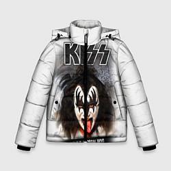 Куртка зимняя для мальчика KISS: Adult demon wig цвета 3D-черный — фото 1