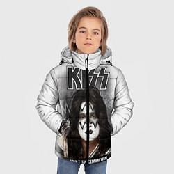 Куртка зимняя для мальчика KISS: Adult spaceman wig цвета 3D-черный — фото 2