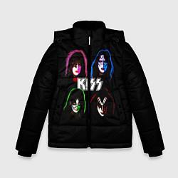 Куртка зимняя для мальчика KISS: Acid Colours цвета 3D-черный — фото 1