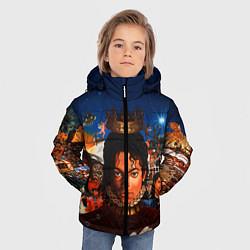 Куртка зимняя для мальчика Michael Jackson: Pop King цвета 3D-черный — фото 2