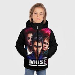 Куртка зимняя для мальчика Muse Band цвета 3D-черный — фото 2