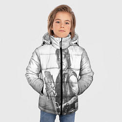 Куртка зимняя для мальчика Дэрил цвета 3D-черный — фото 2