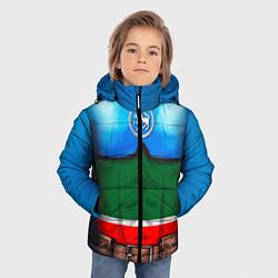Детская зимняя куртка для мальчика с принтом Капитан Татарстан, цвет: 3D-черный, артикул: 10086777806063 — фото 2