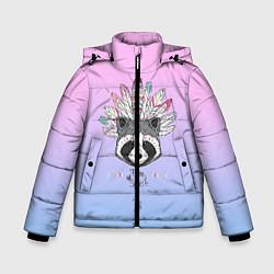 Куртка зимняя для мальчика Raccoon: Free Spirit цвета 3D-черный — фото 1