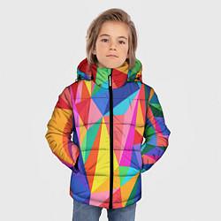 Куртка зимняя для мальчика Радуга цвета 3D-черный — фото 2