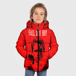 Куртка зимняя для мальчика FOB: Red USA цвета 3D-черный — фото 2