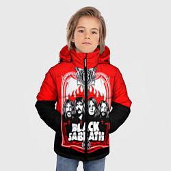 Детская зимняя куртка для мальчика с принтом Black Sabbath: Red Sun, цвет: 3D-черный, артикул: 10087840106063 — фото 2