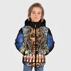 Детская зимняя куртка для мальчика с принтом Iron Maiden: Maidenfc, цвет: 3D-черный, артикул: 10089881006063 — фото 2