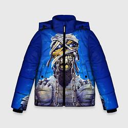 Детская зимняя куртка для мальчика с принтом Iron Maiden: Mummy, цвет: 3D-черный, артикул: 10089881606063 — фото 1
