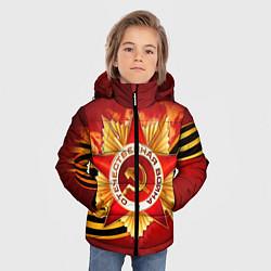 Куртка зимняя для мальчика День победы 4 цвета 3D-черный — фото 2