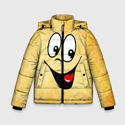 Куртка зимняя для мальчика Заразительная улыбка цвета 3D-черный — фото 1