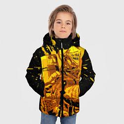 Куртка зимняя для мальчика Dark Souls: Gold Knight цвета 3D-черный — фото 2