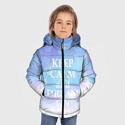 Куртка зимняя для мальчика Keep Calm & Dream цвета 3D-черный — фото 2