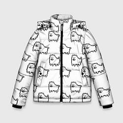 Куртка зимняя для мальчика Undertale Annoying dog white цвета 3D-черный — фото 1
